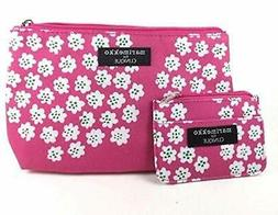 1 Set 2 Bags Marimekko Clinique Makeup Cosmetic Bag & Card ~