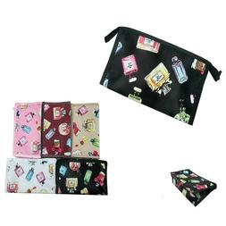 12 pieces Travel Makeup Bag Pouch Cosmetic Perfume Printed B
