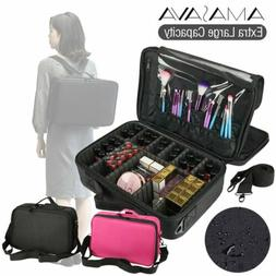 1200D Oxford Makeup Train Case Cosmetic Organizer Storage Ba