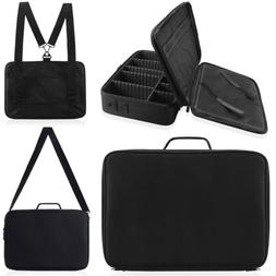 "16"" Professional Makeup Train Case Cosmetic Travel Storage O"