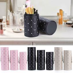1pc PU Leather Makeup Brush Holder Travel Brushes Case Bag C