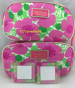 2 Bags:  Lilly Pulitzer  Estee Lauder  Floral Cosmetic Makeu