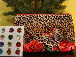 2* ESTEE LAUDER  Leopard Print  Makeup Cosmetic Bag Travel Z