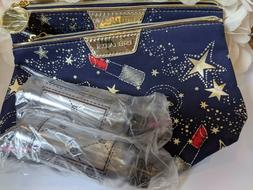 2 Estee Lauder Star Printed Cosmetic Makeup Bag & 2 Travel B