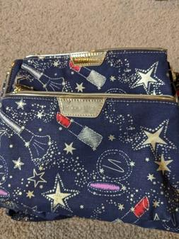 2 Estee Lauder Star Printed Cosmetic Makeup Bag