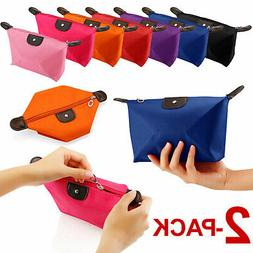 2-PACK Cosmetic Beauty Makeup Bag Case Organizer Holder Hand