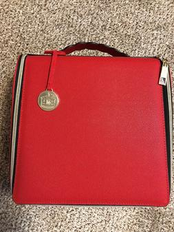 2018 HOLIDAY Estee Lauder Red Cosmetic Makeup Bag TRAIN CASE