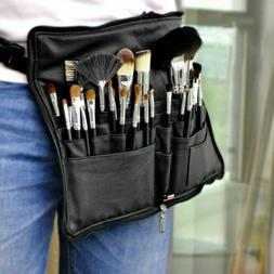 28 Pocket Makeup Bag PU Leather Cosmetic Brushes Case Artist