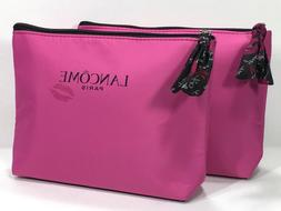 2pc Lancôme Makeup Bag With Lip Design in Pink