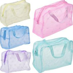2pcs Waterproof Makeup Bag Cosmetic Bags Travel Carry Portab
