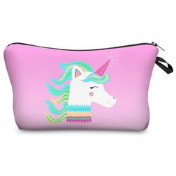Jom Tokoy 3D Printing Unicorn Makeup Bags Multicolor Pattern