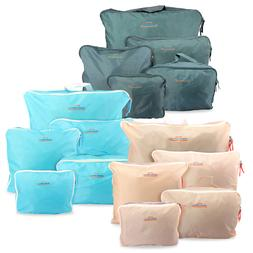 5PCS Waterproof Clothes Travel Storage Bags Packing Cube Lug