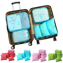 6PCS/Lot Travel Organizer Storage Bag Set Clothes Packing Su