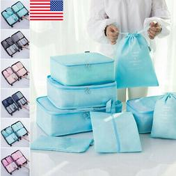 8PCS Travel Luggage Storage Bag Packing Underwear Clothes So
