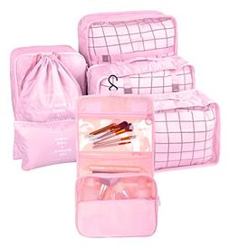BAGOOE 7 Set Assorted Packing Organizers, Travel Luggage Mes