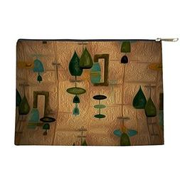 CafePress - Atomic Age In Gold - Makeup Pouch