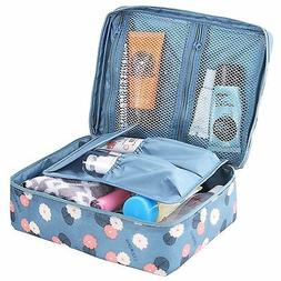 HiDay Cosmetic Makeup Bag Travel Toiletry Organizer, Blue Fl