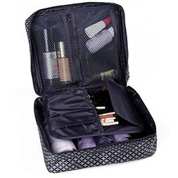 HiDay Cosmetic Makeup Bag Travel Toiletry Organizer, Navy St