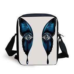 IPrint Eye,Realistic Female Eye on Magical Butterfly Wings A
