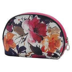 JOE COOL Cosmetic Bag Floral Flair  Made with Pu & Iron by