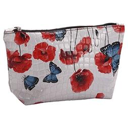 JOE COOL Cosmetic Bag Poppy  Made with Pu & Iron by