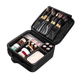 Large Travel Makeup Train Case, Professional DIY Cosmetic St