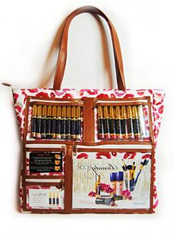 WOW Bag for LipSense   Clear Pockets   Red Lip Print Pattern