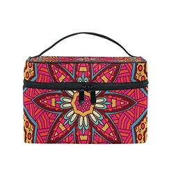 ALIREA Abstract Tribal Ethnic Cosmetic Bag Travel Makeup Tra