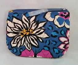 VERA BRADLEY African Violet COIN PURSE ZIPPER COSMETIC BAG T