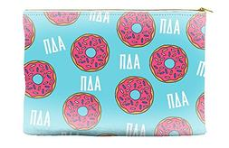 Alpha Delta Pi  Donut Pattern Blue Cosmetic Accessory Pouch