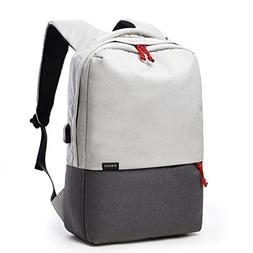 Anti-Theft Rainproof Laoptop Backpack with USB Port Compatib