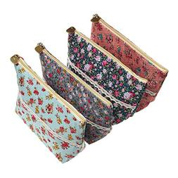 LJY 4 Pieces Assorted Large Capacity Flower Floral Pen Holde