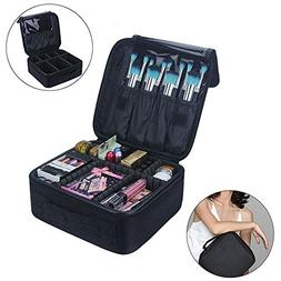 Cosmetic Bag, Calidaka Portable Travel Makeup Train Case Pro