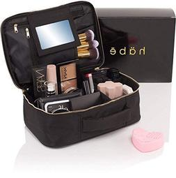 habe Travel Makeup Bag with Mirror - Premium Vegan Designer