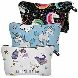 Water Resistant Unicorn Makeup Bag, Heat Transfer Printing C