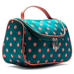 Toiletry Bag Cute, Yeiotsy Polka Dots Travel Makeup Bag Girl