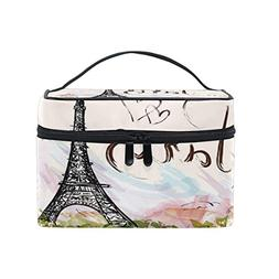 0fde4f466994 Cosmetic Bag Hand Drawn Paris Eiffel Tow...