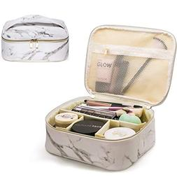 Makeup Bag Organizer Travel Marble Cosmetic Case Portable La