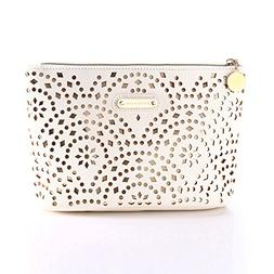 Makeup Bag, Wuhua Gold Pattern Cosmetic Bag with Zipper, Toi