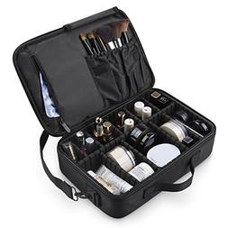 LEPO Professional Makeup Travel Bag Makeup Train Case with A