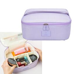 HOYOFO Makeup Bag for Traveling Portable Cosmetic Carry Bag