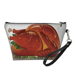 makeup bagcosmetic bagJuicy Thanksgiving Turkey on white bac