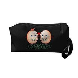 Cosmetic Bags With Zipper Makeup Bag Egg King And Queen Hear