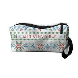 Cosmetic Bags Merry Christmas Makeup Bag Brush Pouch Portabl