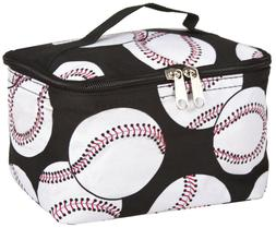 N Gil Baseball Travel Makeup Bag