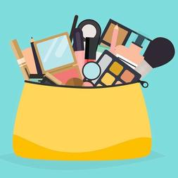 Beauty Bag includes full size makeup, makeup tools and acces