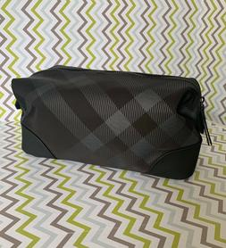 BURBERRY BEAUTY Black Gray Nova Check Cosmetic LARGE Makeup