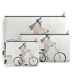 Society6 Man And A Bike Carry-All Pouch Set of 3
