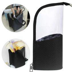 Black Travel Makeup Brush Holder, ANEMEL Pencil Pen Case Org