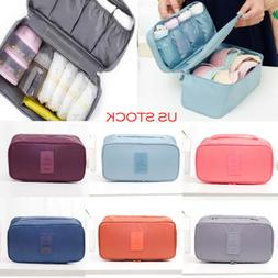 Bra Underwear Socks Cosmetic Packing Cube Storage Bag Travel